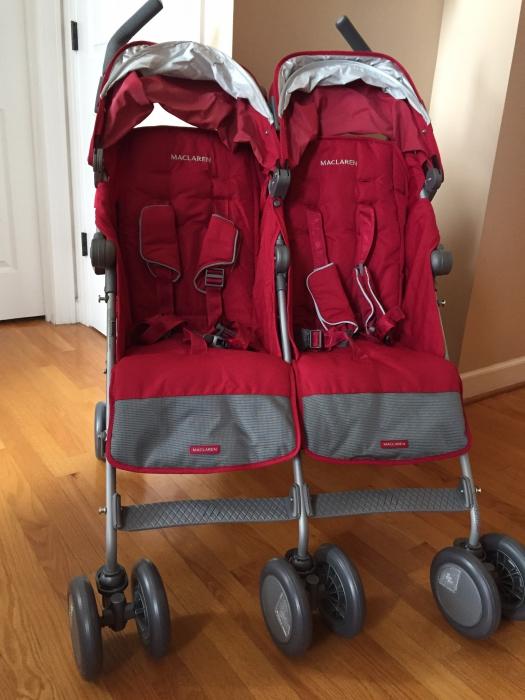 Maclaren Twin Techno Double Stroller - Black